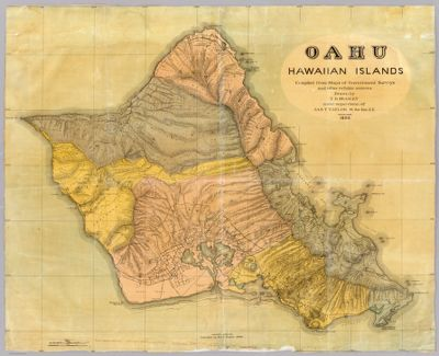 Topographic Map Oahu.Topographic Map Of The Island Of Oahu City And County Of Honolulu