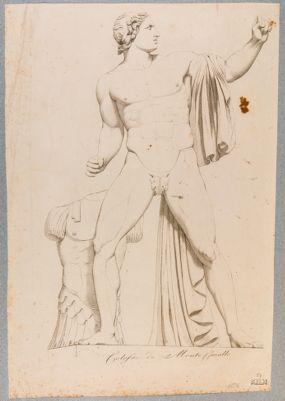 Fontana dei Dioscuri al Quirinale, una delle due statue