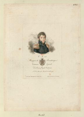 C.M.A. marquis de Bonchamps lieutenant général des armées royales vendéennes né le 10 mai 1760 mort le 18 octobre <em>1793</em> : [estampe]