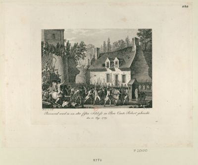 Besenval wird in ein altes festes Schloss zu Brie Comte Robert gebracht [estampe]