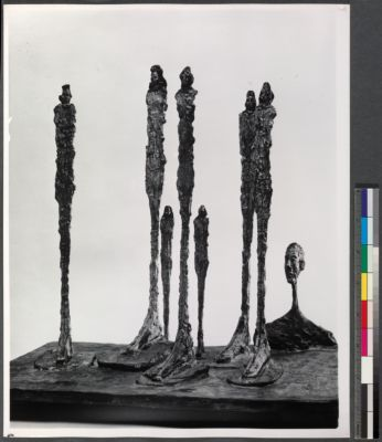 3/4  view of grouped sculptures on white background: 'The Forest, 1950'
