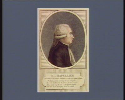 M. Chapellier président de l'Assemblée nationale le 1 août 1789, deputé de Rennes : [estampe]