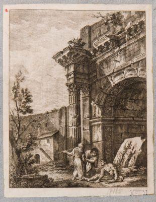 Arco detto di Druso, ricostruzione fantastica
