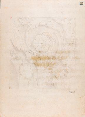 Foro Traiano, particolari di un fregio con girali di acanto