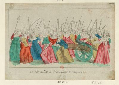 A <em>Versailles</em>, à <em>Versailles</em> le <em>5</em> octobre <em>1789</em> [estampe]