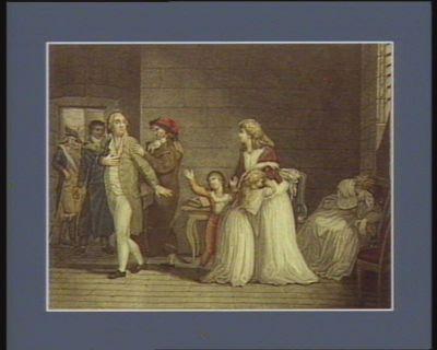 La  Séparation de Louis seize d'avec sa famille [estampe]