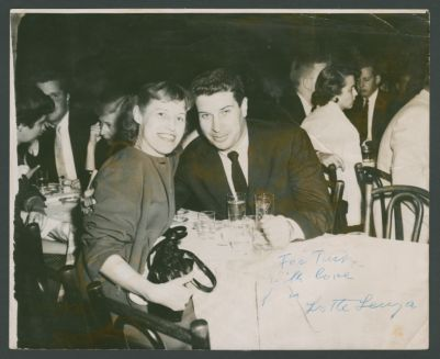 Lotte Lenya with Turk Murphy, New York, NY City, Lenya autographed to Turk
