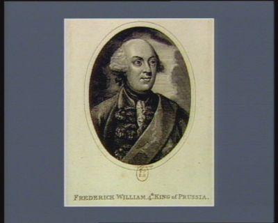 Frederick William 4th King of Prussia : [estampe]