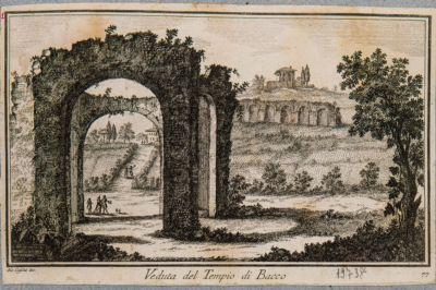 Veduta del tempio di Bacco, Terme di Caracalla