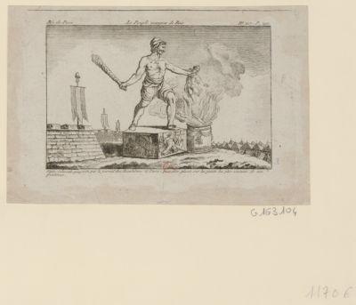 Le  Peuple mangeur de rois statue colossale proposée par le journal des Révolutions de Paris, pour être placée sur les points les plus éminents de nos frontières : [estampe]