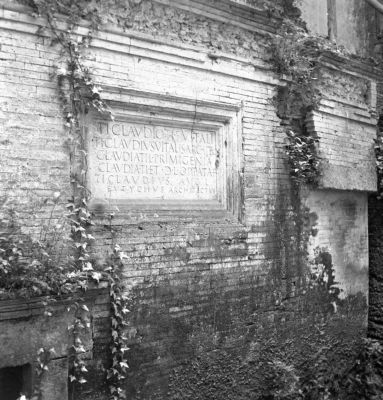 Tomb of Ti. Claudius Vitalis, marble inscription on the outside of the tomb