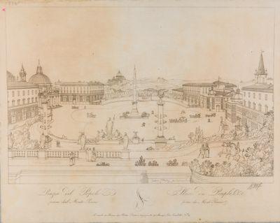 Piazza del Popolo, presa dal Pincio