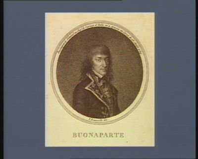 Buonaparte Buonaparte general en chef de l'armée d'Italie né à Ajaccio en Corse le 15 août 1769 : [estampe]