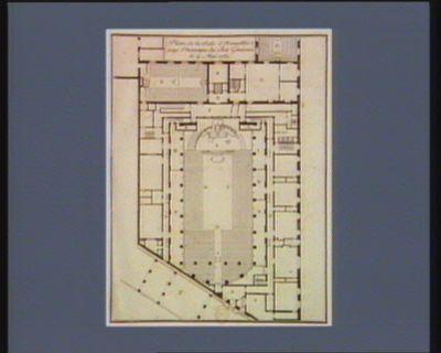 Plan de la salle d'assemblée pour l'ouverture des Etats généraux le 4 mai 1789 [estampe]