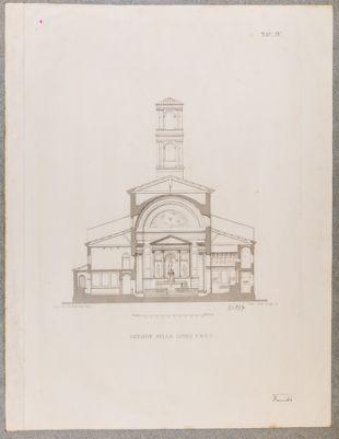 Chiesa di S. Salvatore in Lauro, spaccato trasversale
