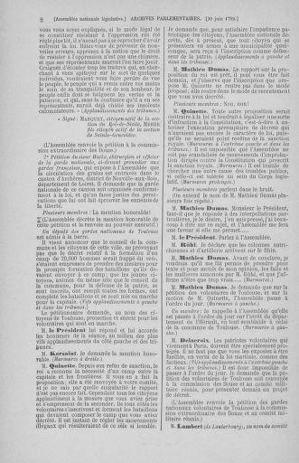Tome 46 : Du 30 juin au 20 juillet 1792 - page 2