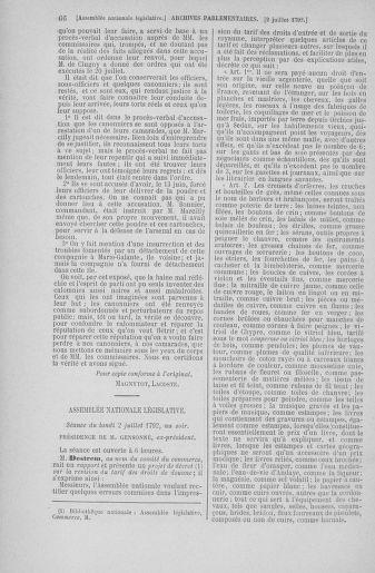 Tome 46 : Du 30 juin au 20 juillet 1792 - page 66