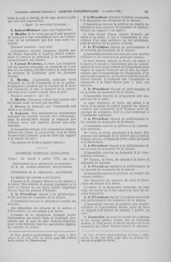Tome 46 : Du 30 juin au 20 juillet 1792 - page 91