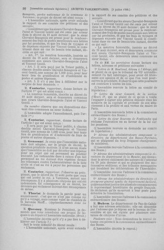 Tome 46 : Du 30 juin au 20 juillet 1792 - page 92