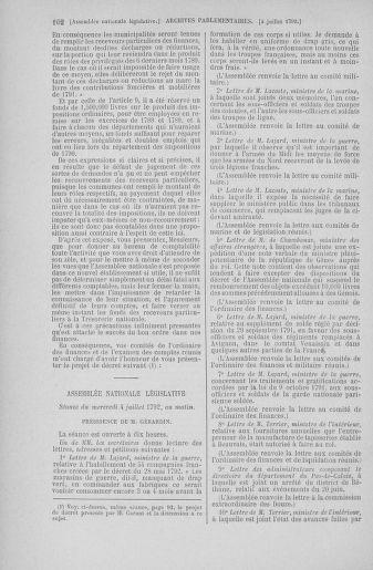 Tome 46 : Du 30 juin au 20 juillet 1792 - page 102