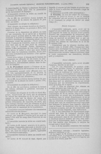Tome 46 : Du 30 juin au 20 juillet 1792 - page 103