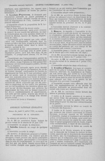 Tome 46 : Du 30 juin au 20 juillet 1792 - page 125