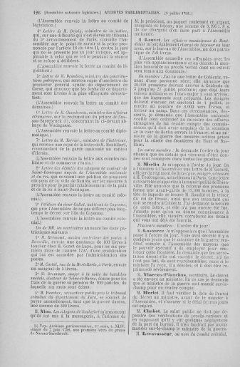 Tome 46 : Du 30 juin au 20 juillet 1792 - page 126