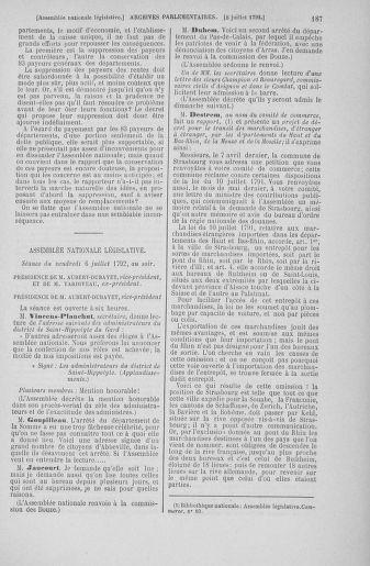 Tome 46 : Du 30 juin au 20 juillet 1792 - page 187
