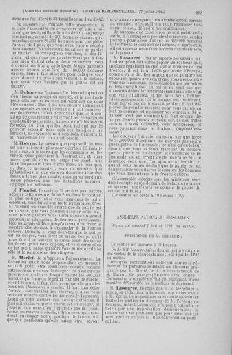 Tome 46 : Du 30 juin au 20 juillet 1792 - page 203