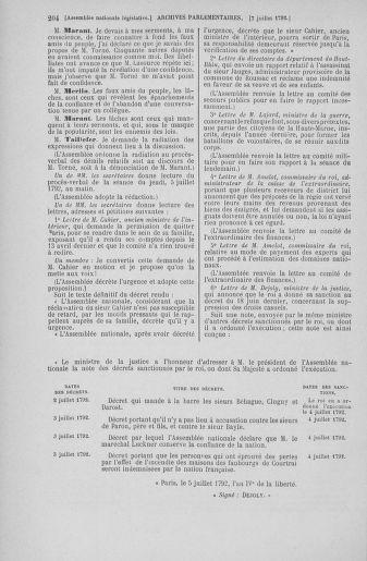 Tome 46 : Du 30 juin au 20 juillet 1792 - page 204