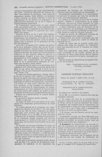 Tome 46 : Du 30 juin au 20 juillet 1792 - page 228