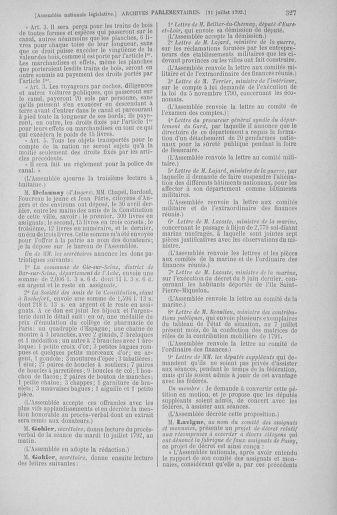 Tome 46 : Du 30 juin au 20 juillet 1792 - page 327