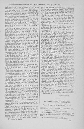 Tome 46 : Du 30 juin au 20 juillet 1792 - page 433