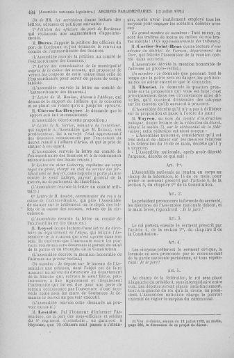 Tome 46 : Du 30 juin au 20 juillet 1792 - page 434