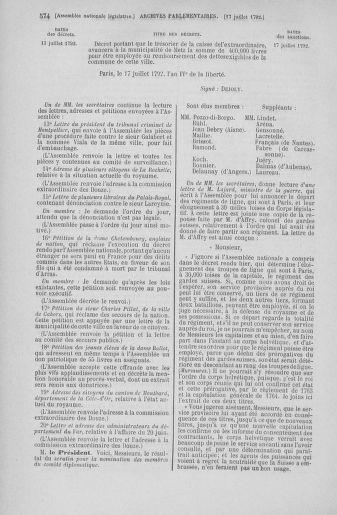 Tome 46 : Du 30 juin au 20 juillet 1792 - page 574