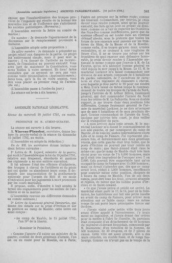 Tome 46 : Du 30 juin au 20 juillet 1792 - page 581