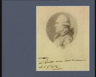 M. Gounot avocat député de Nivernais né 1.e 9.bre 1732 : [dessin]