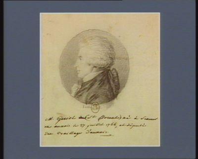 M. Guiot Saint-Florent né à Sémur en Auxois le 27 juillet 1755 et député du baillage d'Auxois : [dessin]