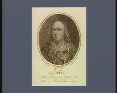 Franklin né à Boston le 17 janv.r 1706 mort à Philadelphie en 1790 : [estampe]