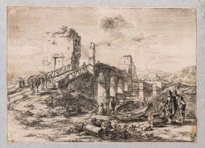 Ponte Milvio, veduta generale di scorcio