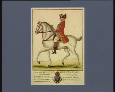 Louis seize, Roi des Français, né à Versailles le 23 aout 1754 Ah ! decernons la couronne civique au grand Louis, au plus grand de nos rois brûlons pour lui l'encens patriotique... : [estampe]