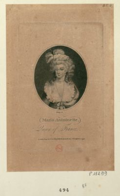 <em>Marie</em> <em>Antoinette</em>, Queen of France [estampe]