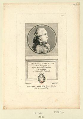 J. B.te c.te de Mascon né en Auvergne en 17 député de la séné.ssée de Riom en Auvergne a l'Assemblée nationale de 1789 : [estampe]