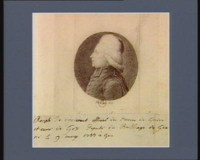 Rouph de Varicourt, official du diocèse de Genève et curé de Gex député du bailliage de Gex, né le 9 may 1744 à Gex : [dessin]