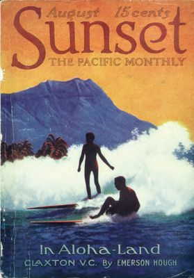 Sunset Magazine cover. August 1916