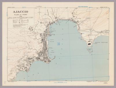 Ajaccio : plan of port