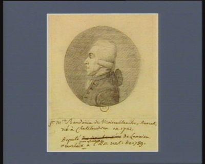 J.n M.rie Baudoüin de Maisonblanche, avocat né à Chatelaudren en 1742, député de Lannion & Morlaix en Bretagne à l'Ass. nat. de 1789 : [dessin]