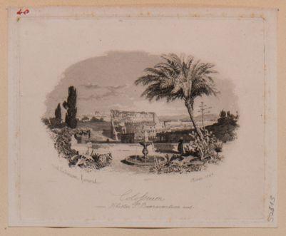 Colosseo. Veduta generale presa dal monastero di San Bonaventura