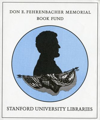 The Don E. Fehrenbacher Memorial Book Fund