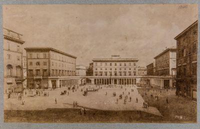 Piazza Colonna, progetto di sistemazione del lato verso levante